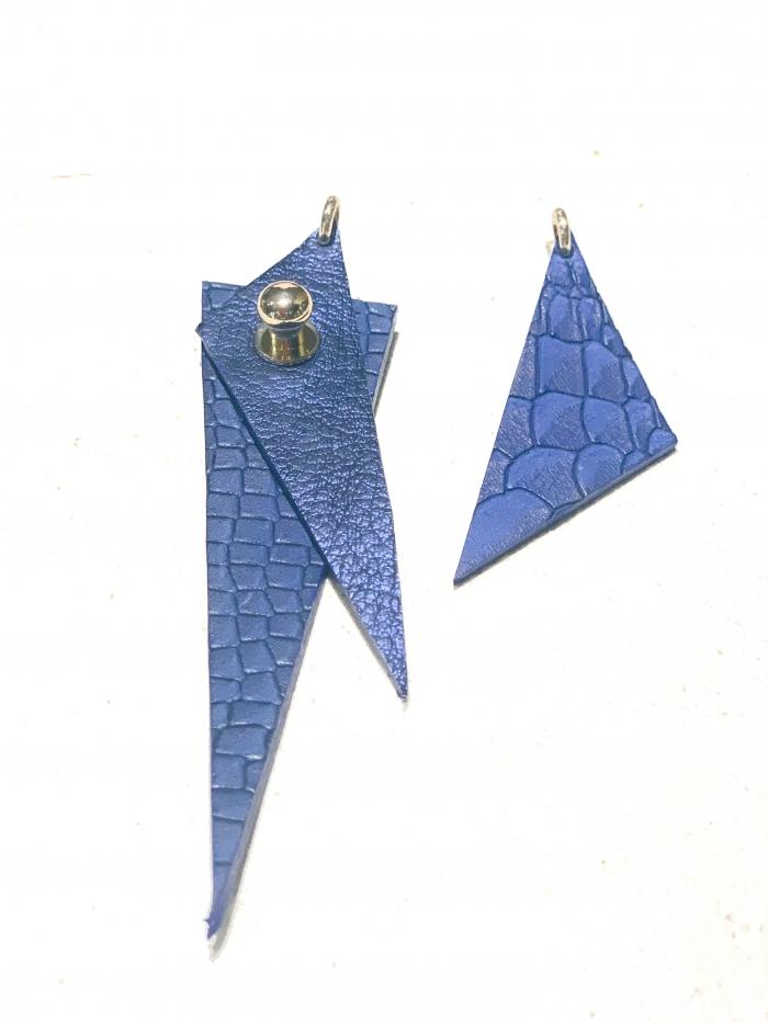 Blue snake earrings